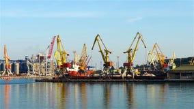 Industrial cranes stock video