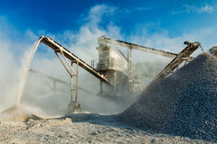 Industrial crusher - rock stone crushing machine Royalty Free Stock Photo