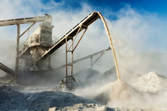 Industrial crusher - rock stone crushing machine Stock Photography