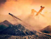 Industrial crusher - rock stone crushing machine Stock Images