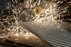 Industrial Cutting of the Metal Item Stock Image