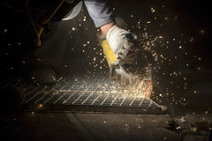 Industrial Cutting of the Metal Item Stock Photos