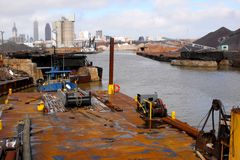 Industrial Cuyahoga River stock photos
