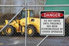 Industrial Danger Sign Stock Photo