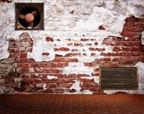 Industrial dark room interior Royalty Free Stock Photography