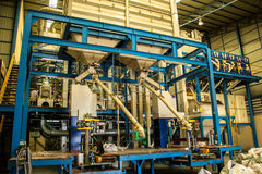 Industrial, de aço, construindo, azul, grande Fotografia de Stock Royalty Free