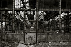 Industrial decay #04. An industrial decay in Italy Royalty Free Stock Photography