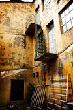 Industrial Decay. An old abandoned building, factory, hospital, prison or institution stock photo