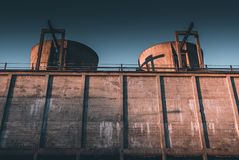 Industrial decay economic decay concept stock images
