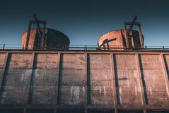 Industrial decay economic decay concept. Industrial decay - economic decay concept stock images