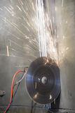 Industrial demolition disc saw machine Royalty Free Stock Image