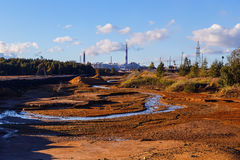 Industrial desert - aftermath of ecological catastrophe in Karabash, Russia Royalty Free Stock Photos