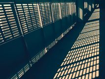 Architecture abstraction, graphic art. Industrial design, contrast architecture abstraction, graphic art, light and shadows, sunlight, long route, perspective Royalty Free Stock Image