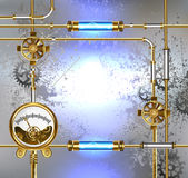 Industrial design with manometer Stock Photo