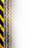 Industrial design with tire track fading in white space Royalty Free Stock Image