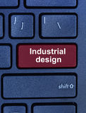 Industrial design words on computer keyboard Royalty Free Stock Photos