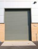 Industrial Despatch Door. Detail of industrial roller shutter door Stock Image