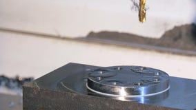 Industrial details, metal threading stock footage