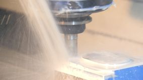 Industrial details, milling machine stock footage