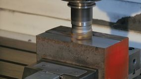 Industrial details, milling machine stock video footage