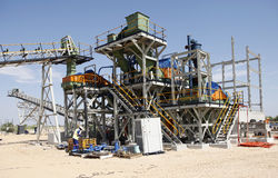 Industrial diamond mining plant under construction Stock Photos