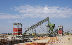 Industrial diamond mining plant under construction Stock Images