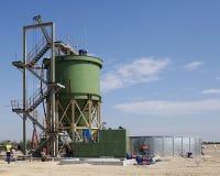 Industrial diamond mining plant under construction Royalty Free Stock Image
