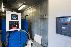 Industrial diesel generator for backup power Stock Images