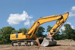 Industrial Digger Stock Photo