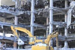 Industrial dismantle, mechanical destruction Royalty Free Stock Photo