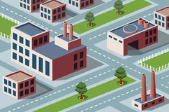 Industrial district. Vector isometric view of the industrial district vector illustration