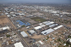 Industrial district from above stock image