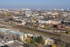 Industrial district cityscape. Svyatoshin, Kiev. Stock Images