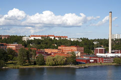 Industrial District on the coast of stockholm Royalty Free Stock Photos