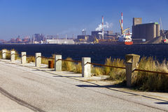 Industrial dockland Royalty Free Stock Photos