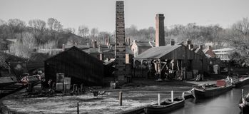 Industrial docklands Black Country stock photos