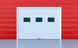Industrial door. Or garage door red wall panels Royalty Free Stock Images