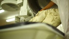 Industrial dough line stock video