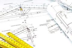 Construction plans Royalty Free Stock Photos