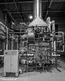 Industrial dual fuel gas oil  boiler. Royalty Free Stock Photo
