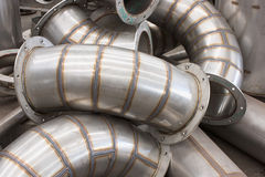 Industrial ducting parts Royalty Free Stock Photo