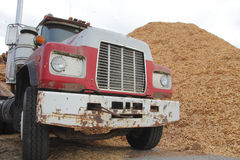 Industrial Dump Truck and Load Stock Photography