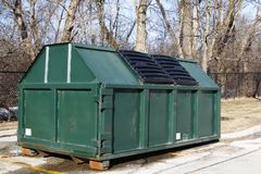 Industrial dumpster Stock Photography