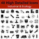 Industrial and Ecology Smooth Icons Stock Image