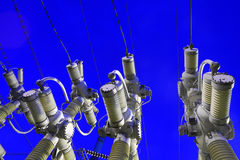 Industrial electric equipment. Sale and electricity generation. Royalty Free Stock Image