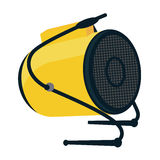 Industrial electric fan heater icon. Construction heat gun instr Royalty Free Stock Photo