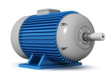 Industrial electric motor Stock Photo