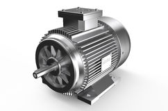 Industrial electric motor. Isolated on white background Royalty Free Stock Photography