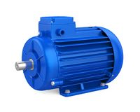 Industrial Electric Motor Isolated. On white background. 3D render stock photos