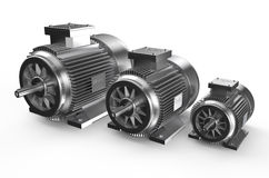Industrial electric motors Royalty Free Stock Photos